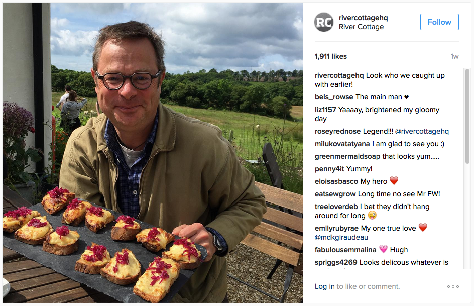 Hugh poses with some tasty delights