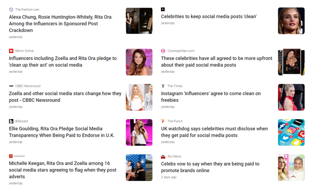 Famous Influencers Volunteer to Start Following the Law Regarding